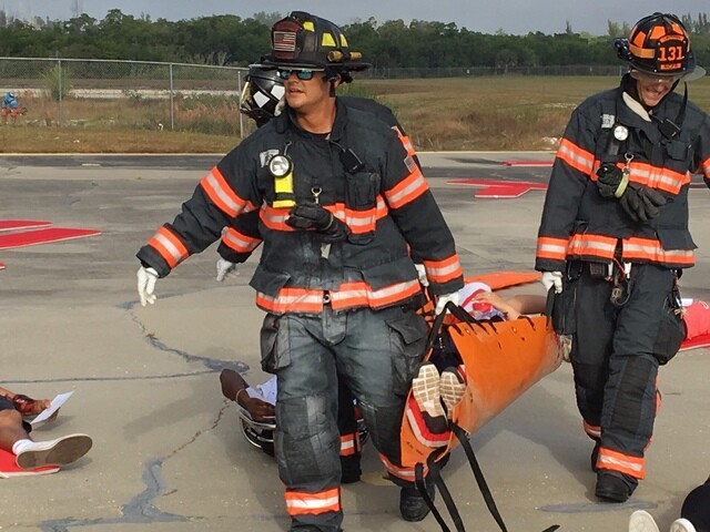 Photos: Emergency response drill at Naples airport