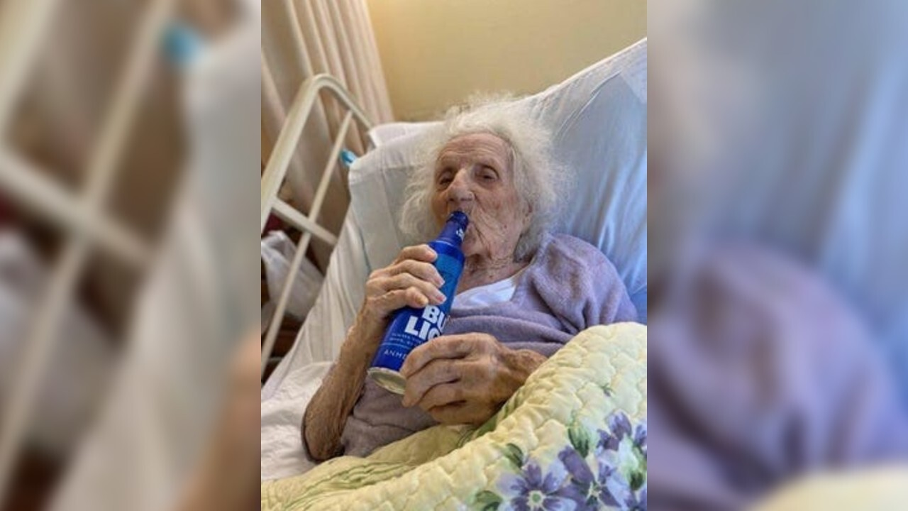 103-year-old grandmother celebrates beating COVID-19 with ice-cold Bud Light