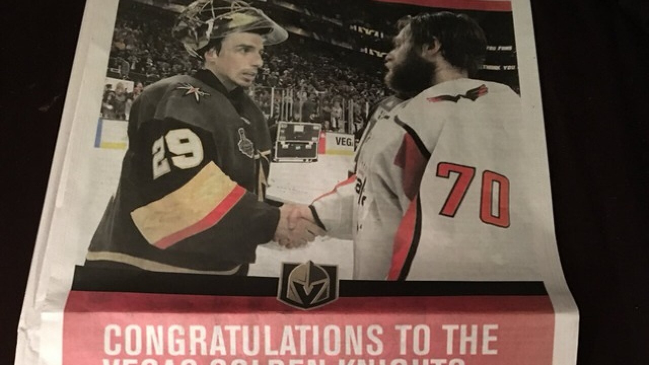Capitals write classy message to Golden Knights in Las Vegas