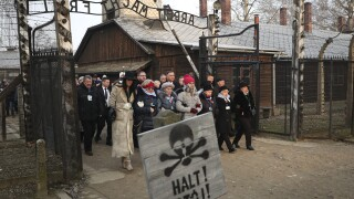 APTOPIX Poland Auschwitz Liberation Anniversary