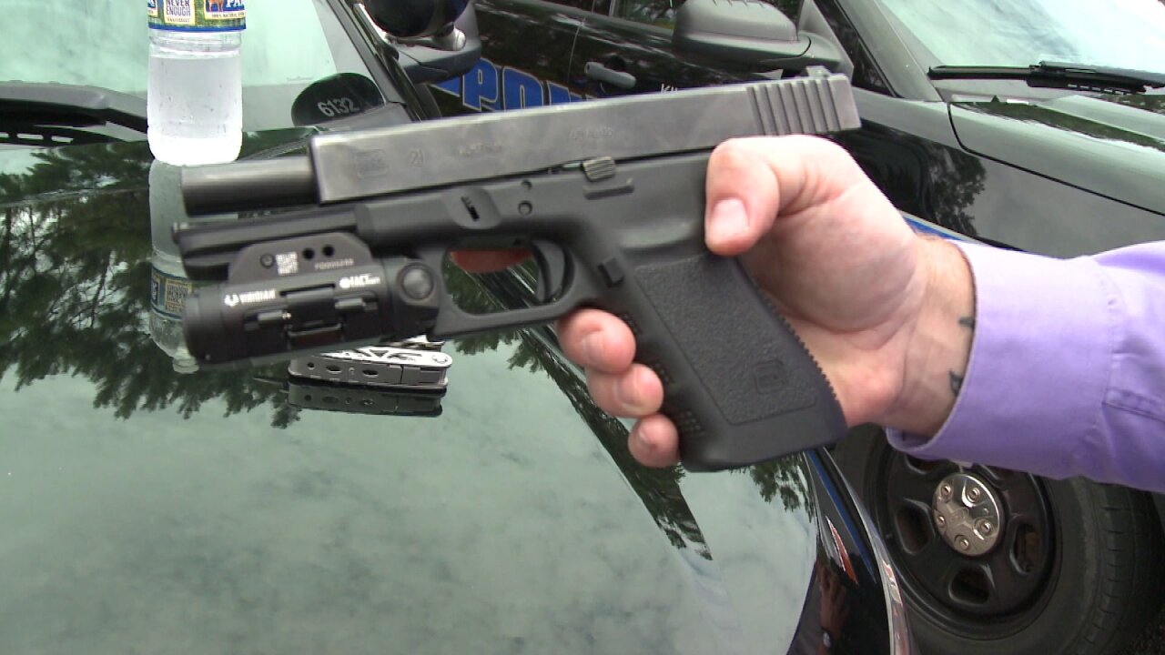 Kill Devil Hills Police testing out new recording device soon to be placed on officerhandguns