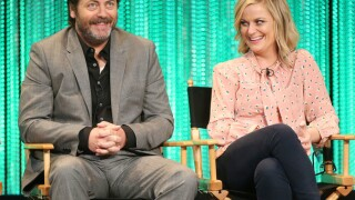 Actor Nick Offerman, Ron Swanson in 'Parks and Rec' performing in Indy in 2019