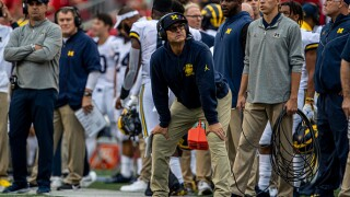 Jim Harbaugh advocates for college football to be played with safety protocols