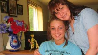 Courtney Stafford with her mother, Tracy Clark