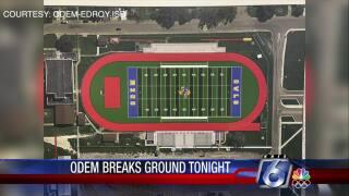 Odem-Edroy ISD will break ground for a new football stadium tonight.