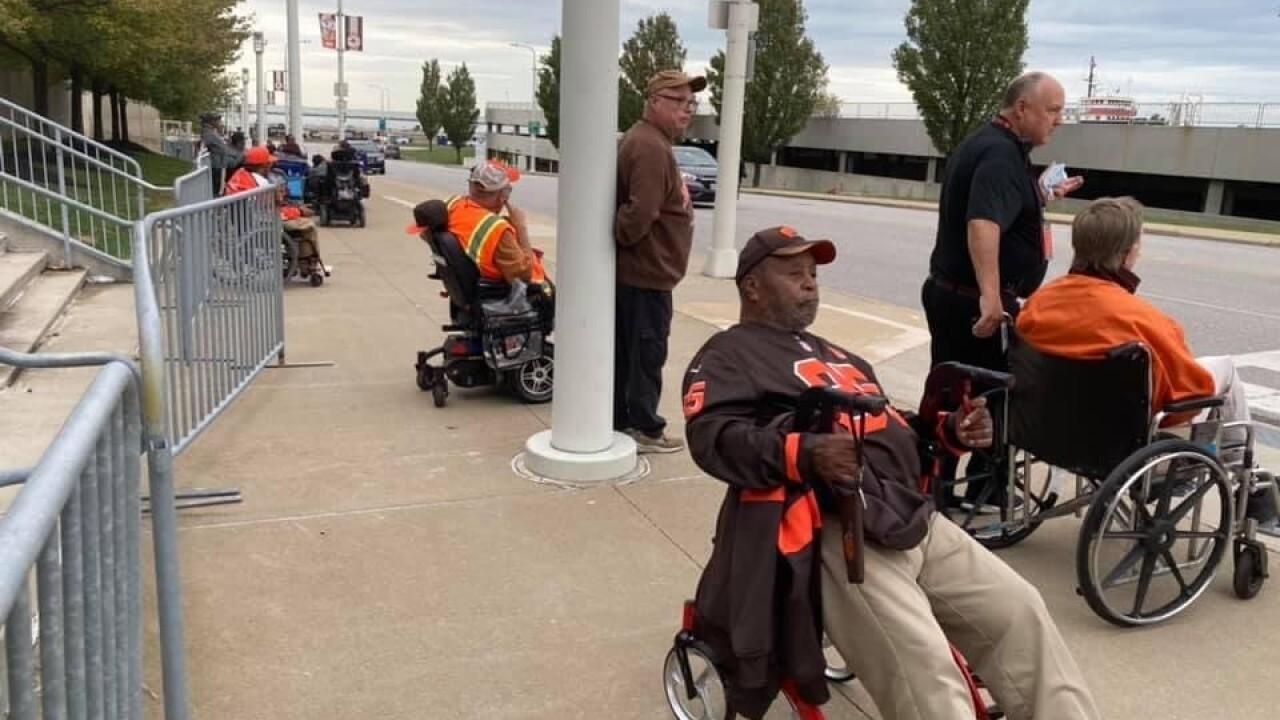 Browns fans wheelchair