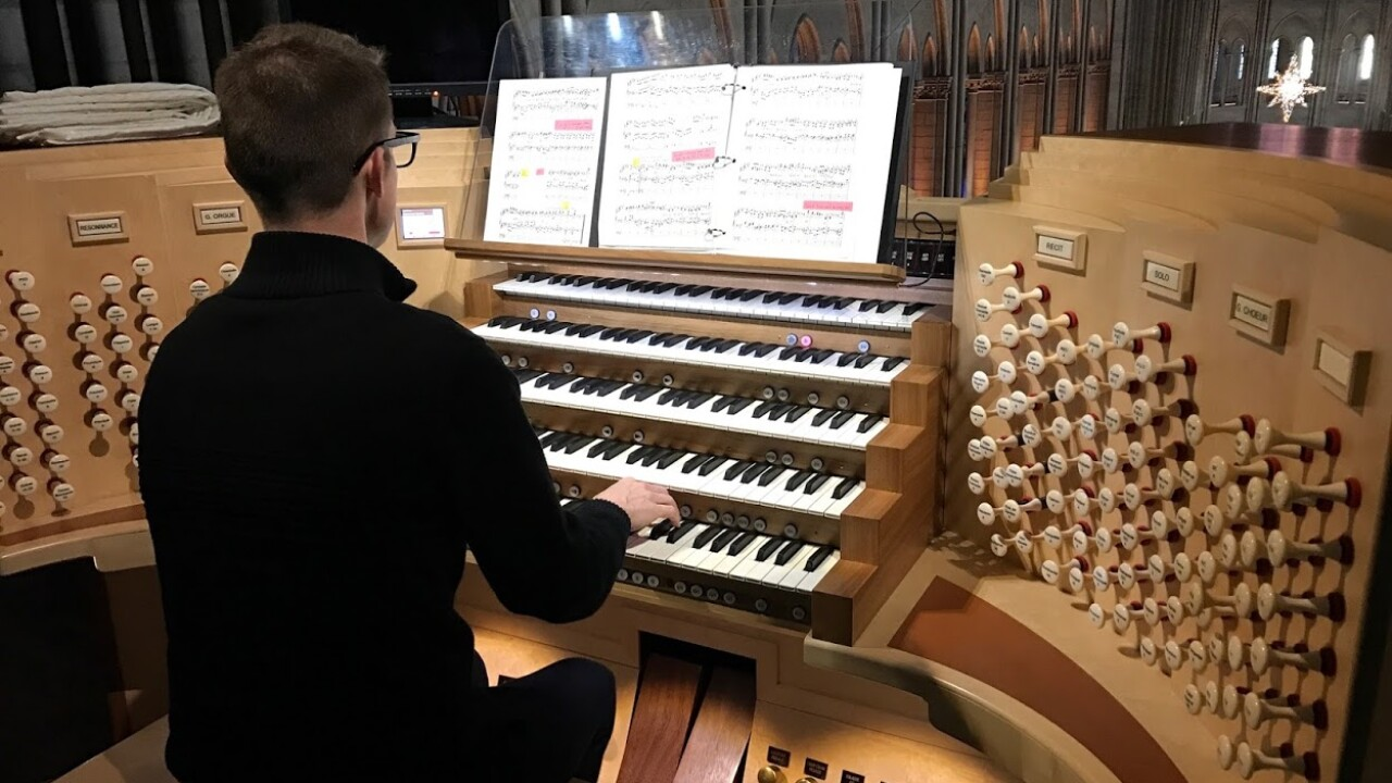 'It's just difficult to comprehend' Norfolk organist recalls performing at Notre DameCathedral