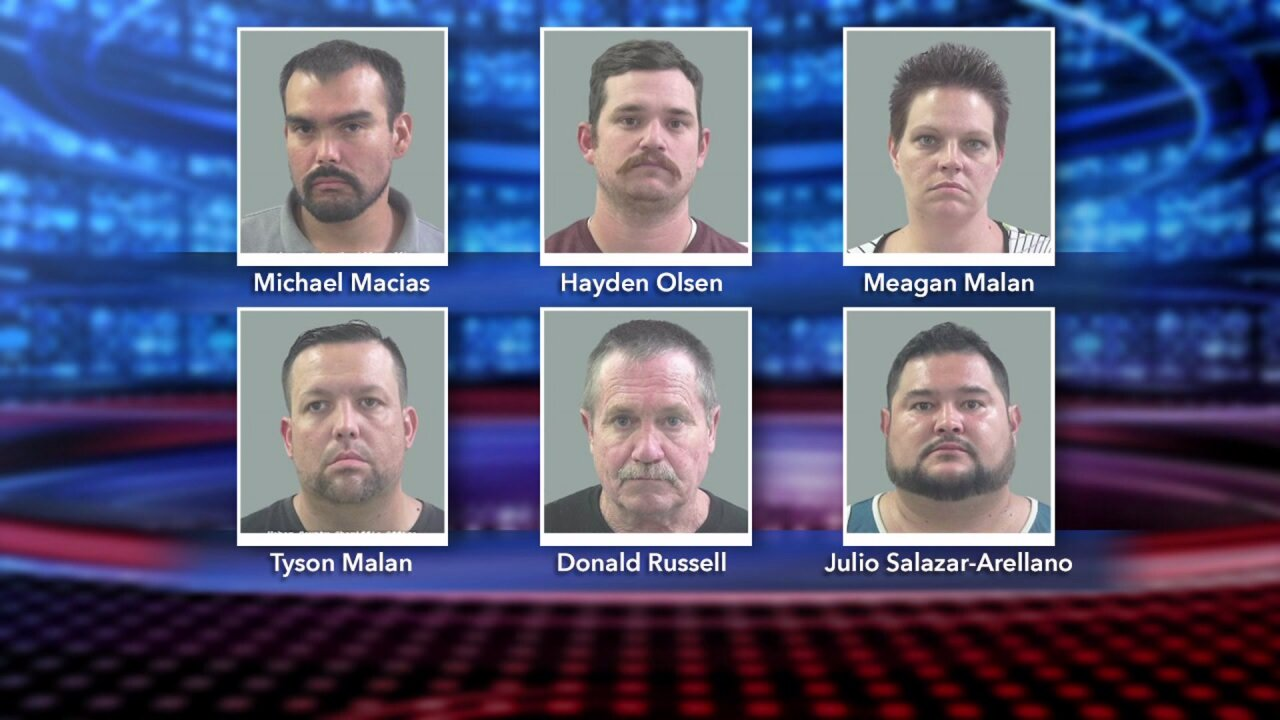 Press image showing the six suspects taken into custody as a result of the sting operation. Courtesy: Weber County Sheriff's Office