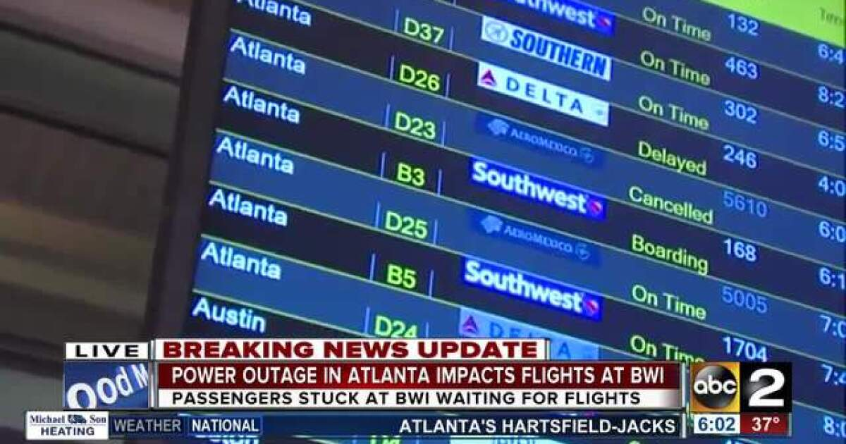 Power restored at Atlanta airport, outage impacted flights