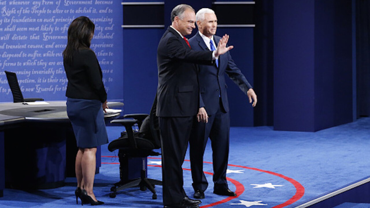 Who won Tuesday's vice presidential debate?