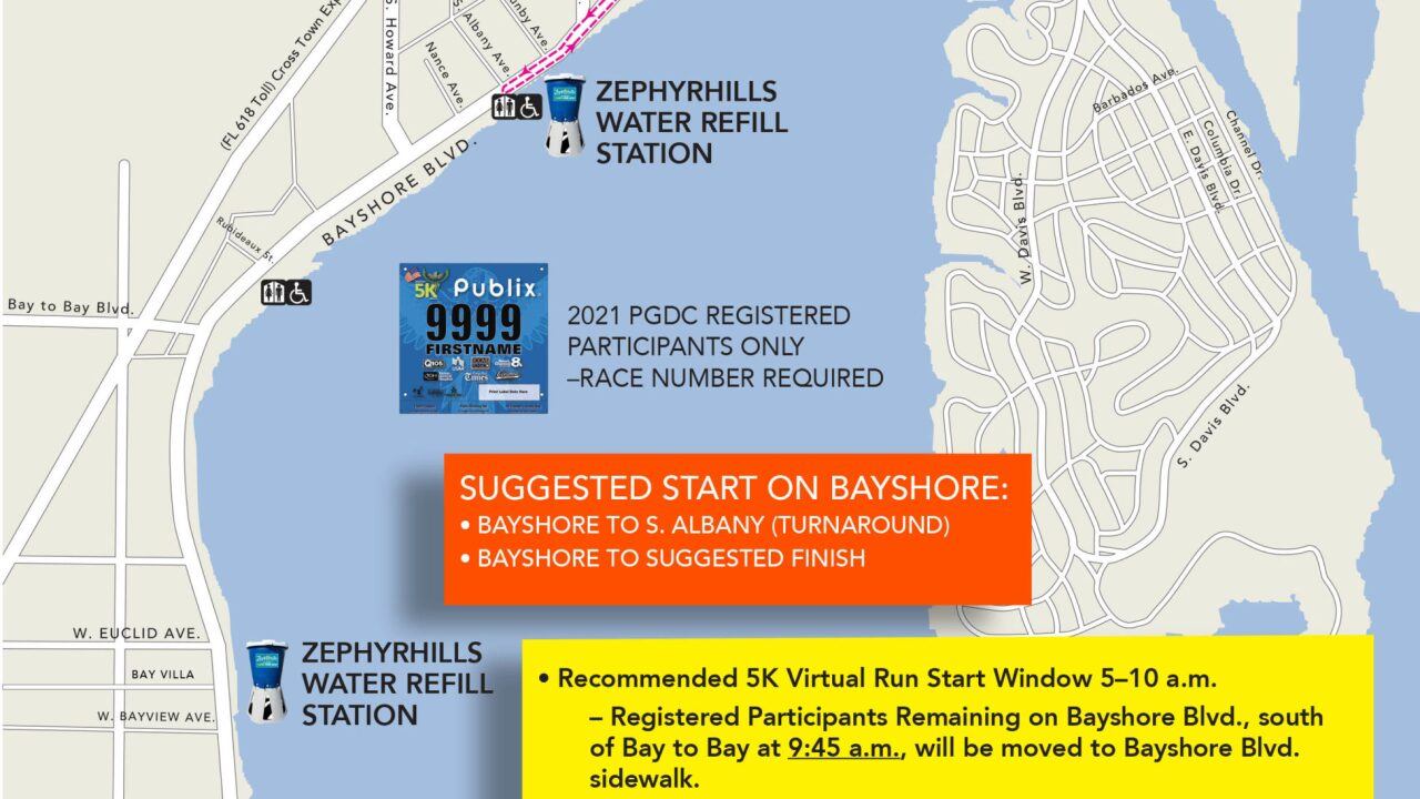 2021 PGDC 5K Virtual Course Map 3.17