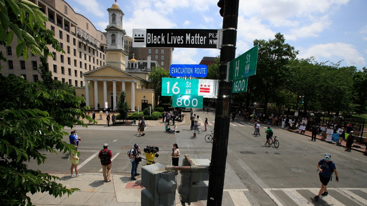 DC paints huge Black Lives Matter mural on street leading to White House