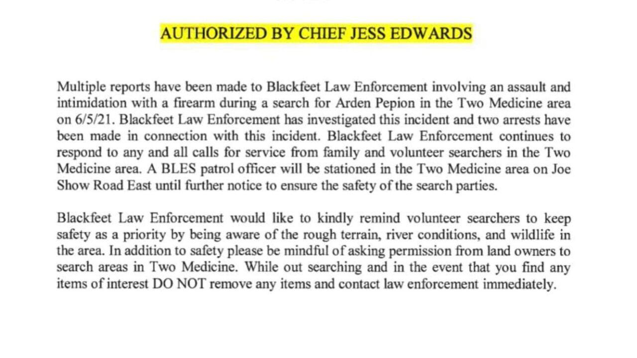 Blackfeet Law Enforcement Services