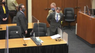 Derek Chauvin handcuffed and taken into custody after guilty verdict, April 20, 2021