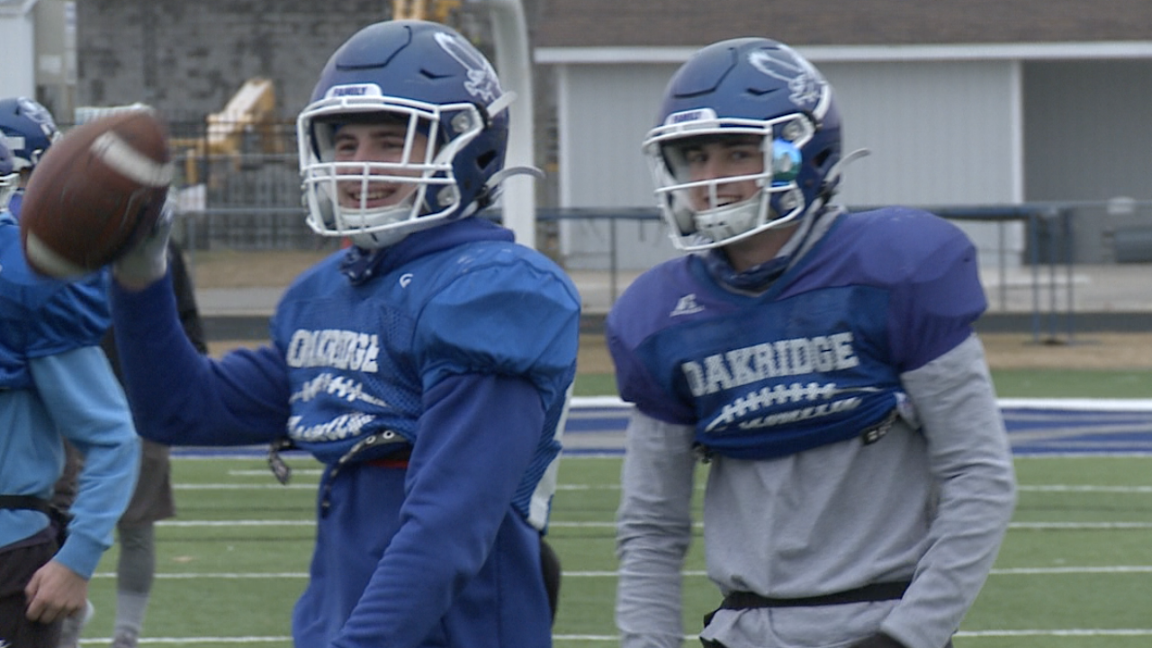 Oakridge players all smiles after returning to practice