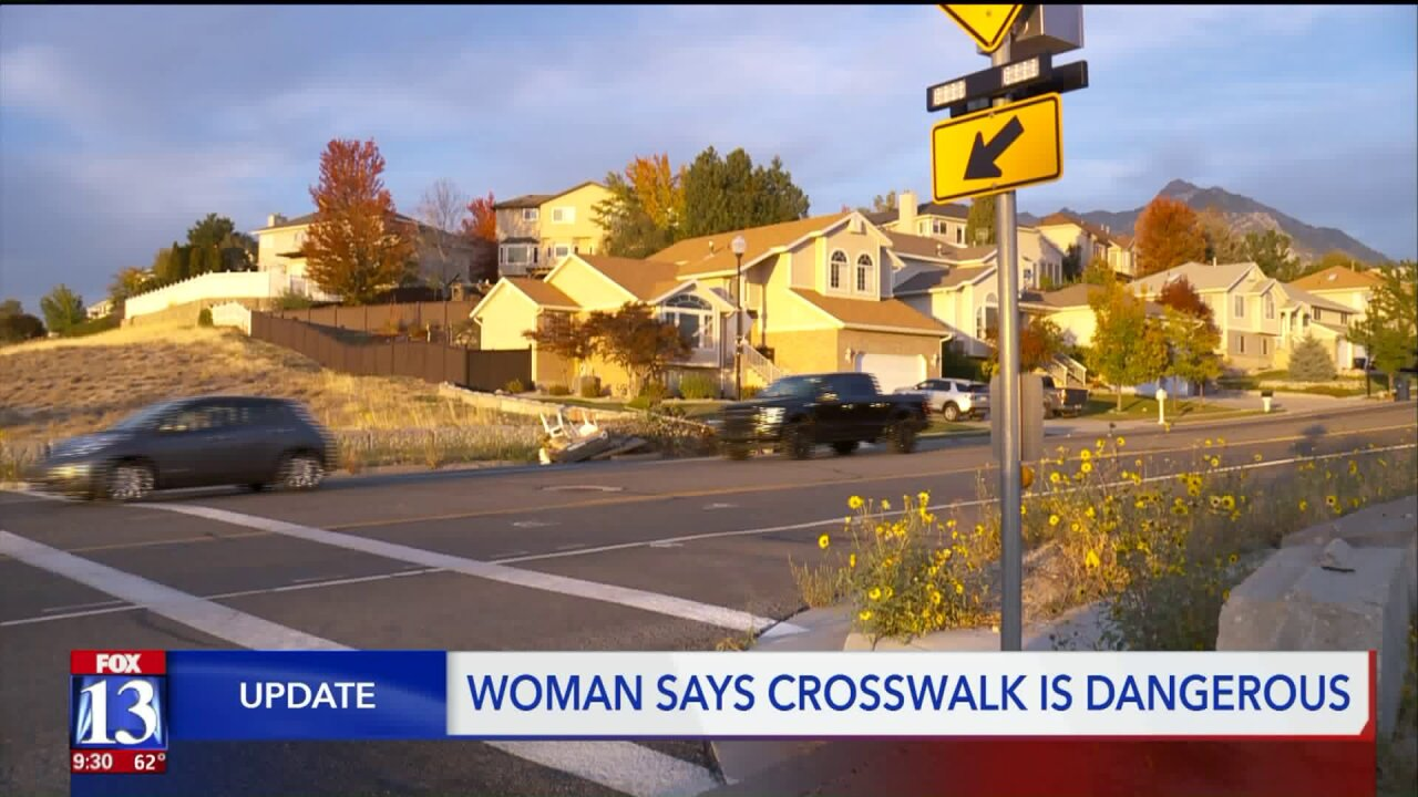 Neighbors concerned about Sandy crosswalk after pedestrian accident