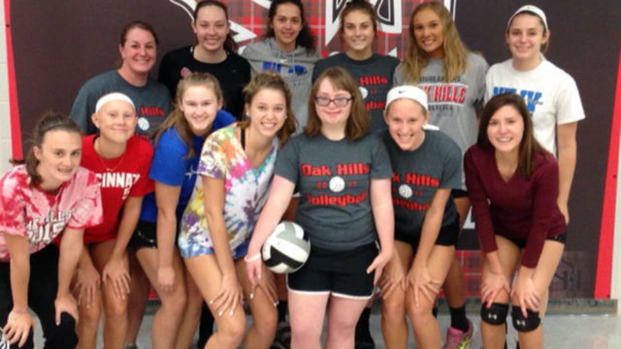 Student manager keeps Oak Hills girls' volleyball team focused