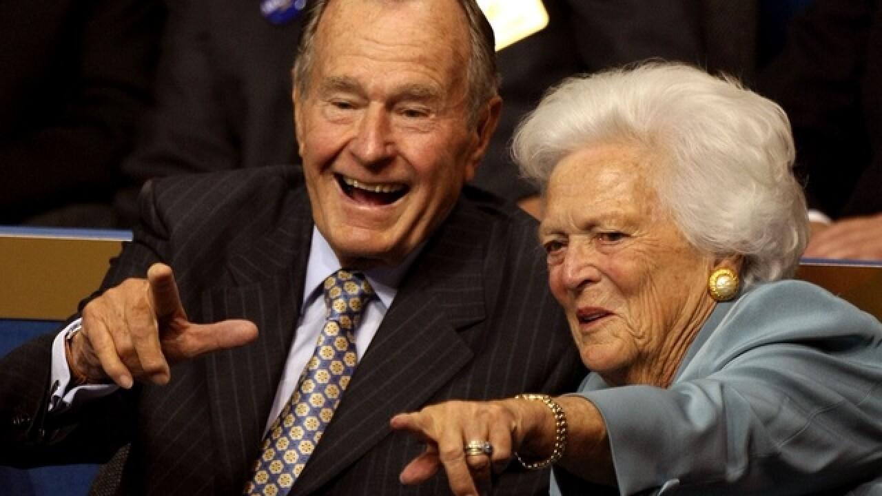 Bush saluted as 'gentle soul,' 'great man'