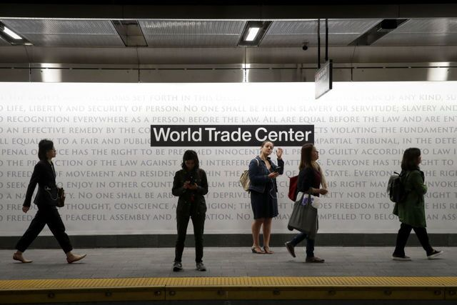 Photos: NYC subway station reopens for the first time since 9/11