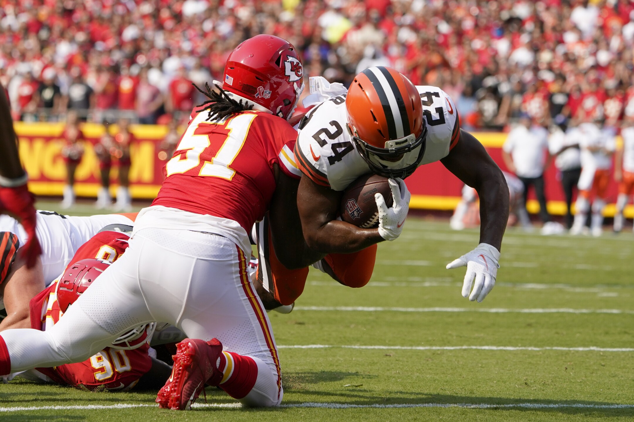 CORRECTION Browns Chiefs Football
