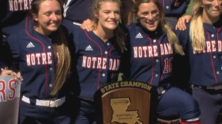 Notre Dame finishes off perfect season with state title