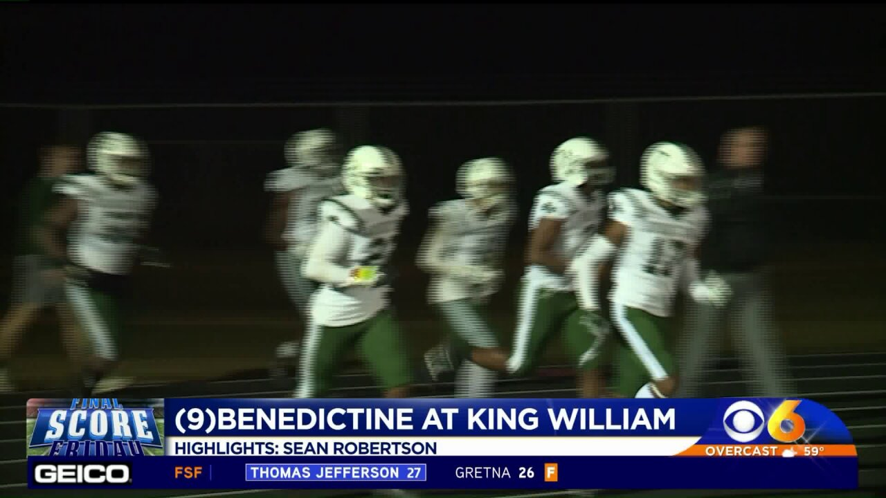Fisher leads Benedictine to shutout over King William 47-0