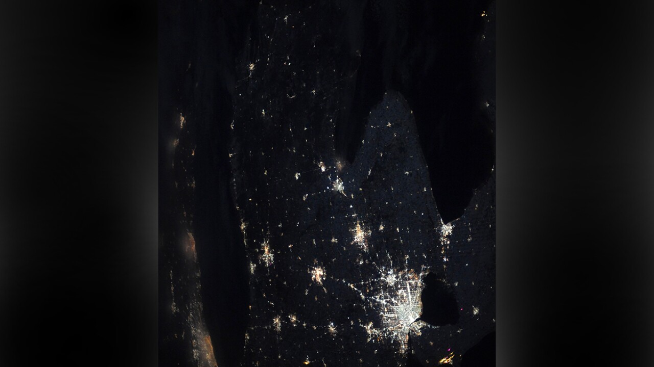 NASA astronaut takes incredible photo of Michigan at night from outer space