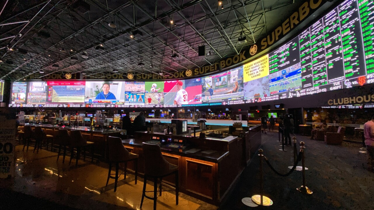The Westgate Superbook is one of the largest in the world as seen in these photos taken Sept. 2020.