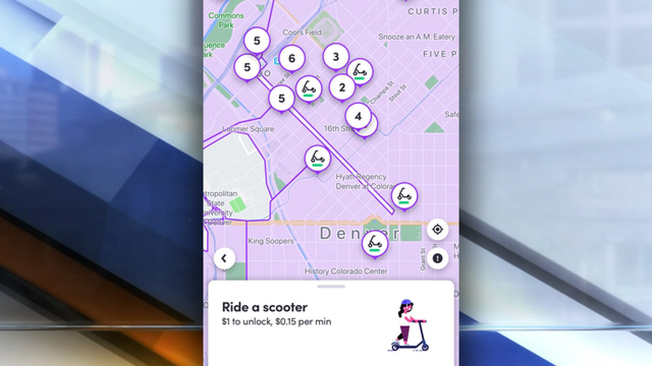 Lyft releases its first scooters in Denver