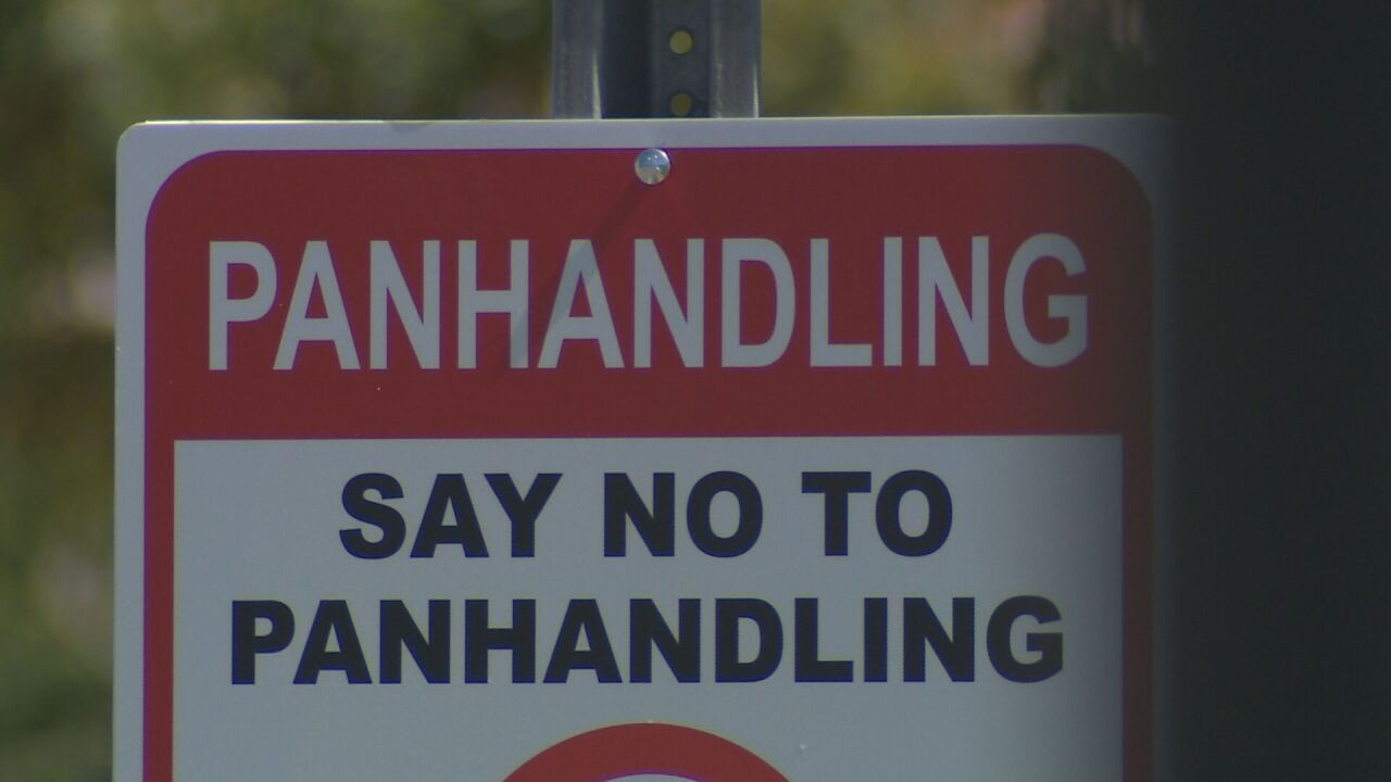 Panhandling sign