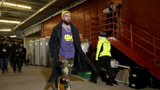 Travis Kelce arrives AFC Championship
