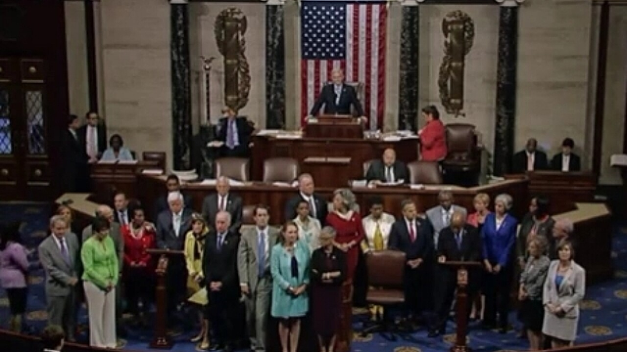 Democrats disrupt House, stage protest over gun control measures
