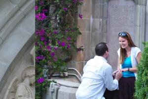 Mystery engagement couple meets photographer after almost a decade