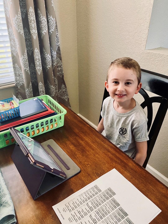 Edward Flynn, St. Anastasia Catholic School at-home virtual learning