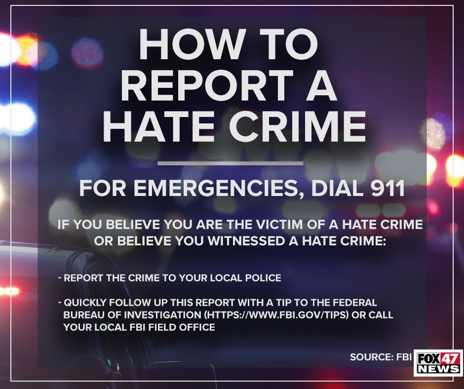 How to report a hate crime.