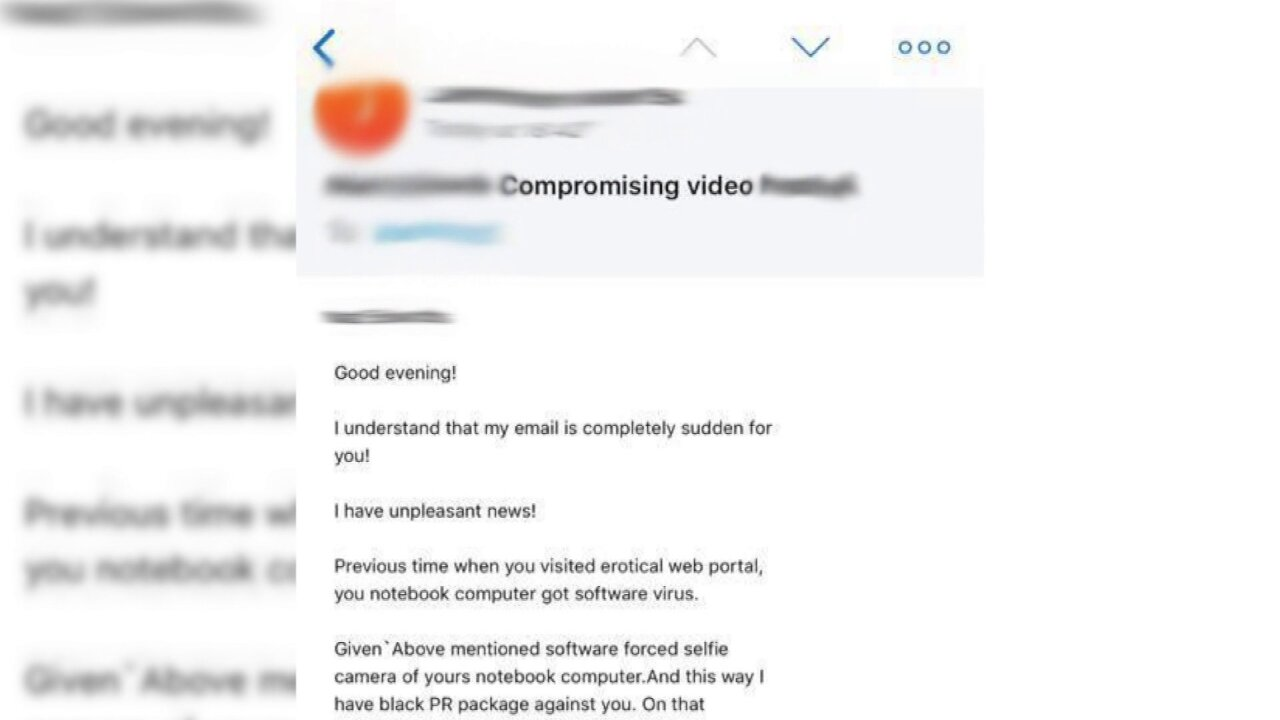 A Good Porn Website man gets email about compromising video after visiting porn site
