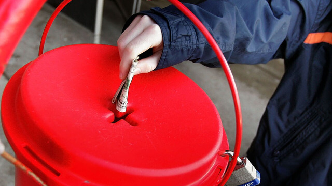 Salvation Army Bell Ringers Collect Funds For Charity