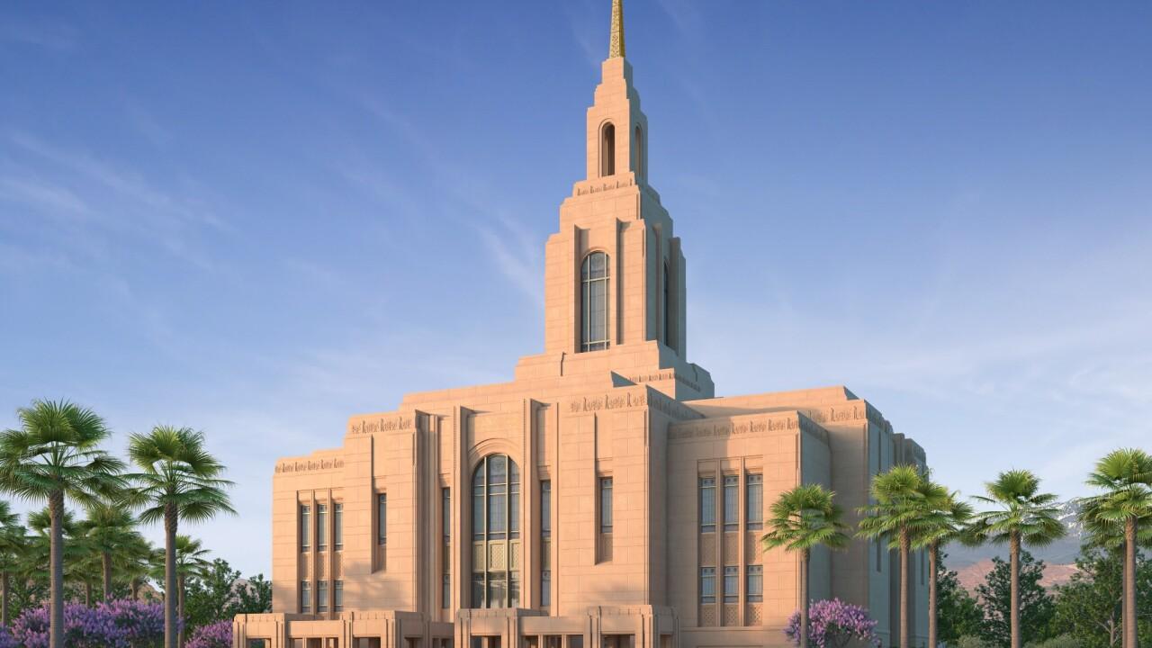 Washington County Utah temple rendering