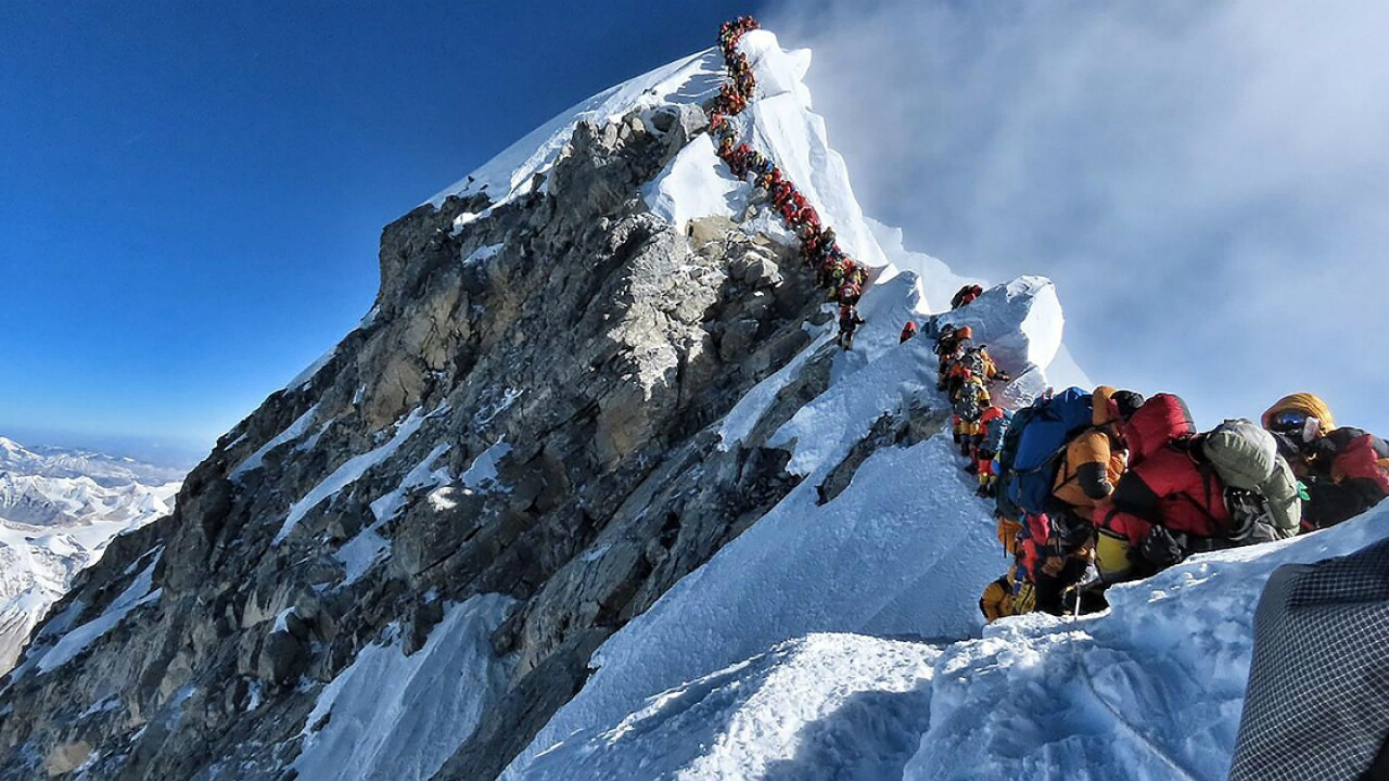 Everest climbers risk death for ultimate high atop world's tallest peak