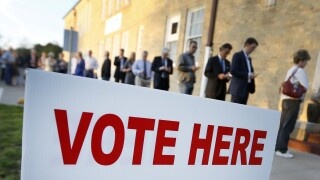 Election officials ask voters to come to polls prepared to vote and wait