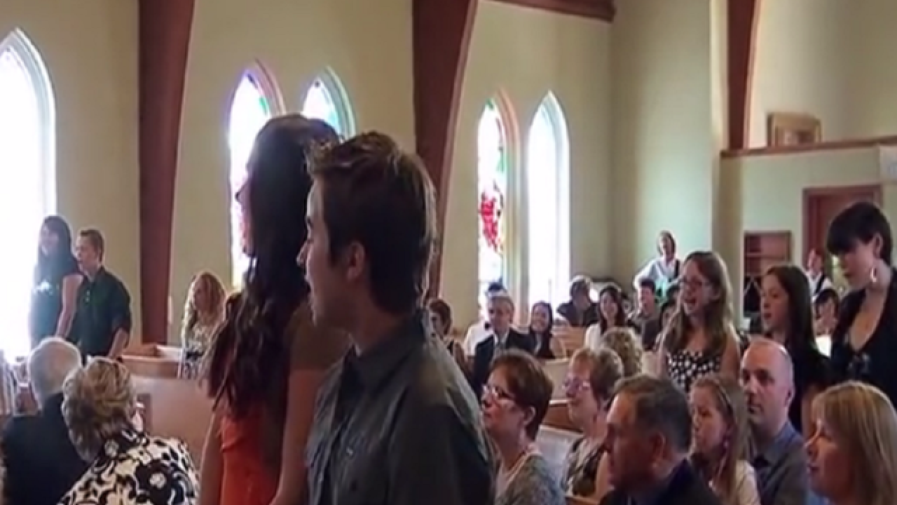 WATCH: Music students pull off flash mob at wedding
