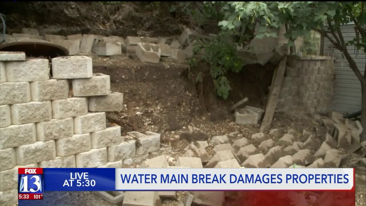 Residents in small Utah town upset over damage from water pipe