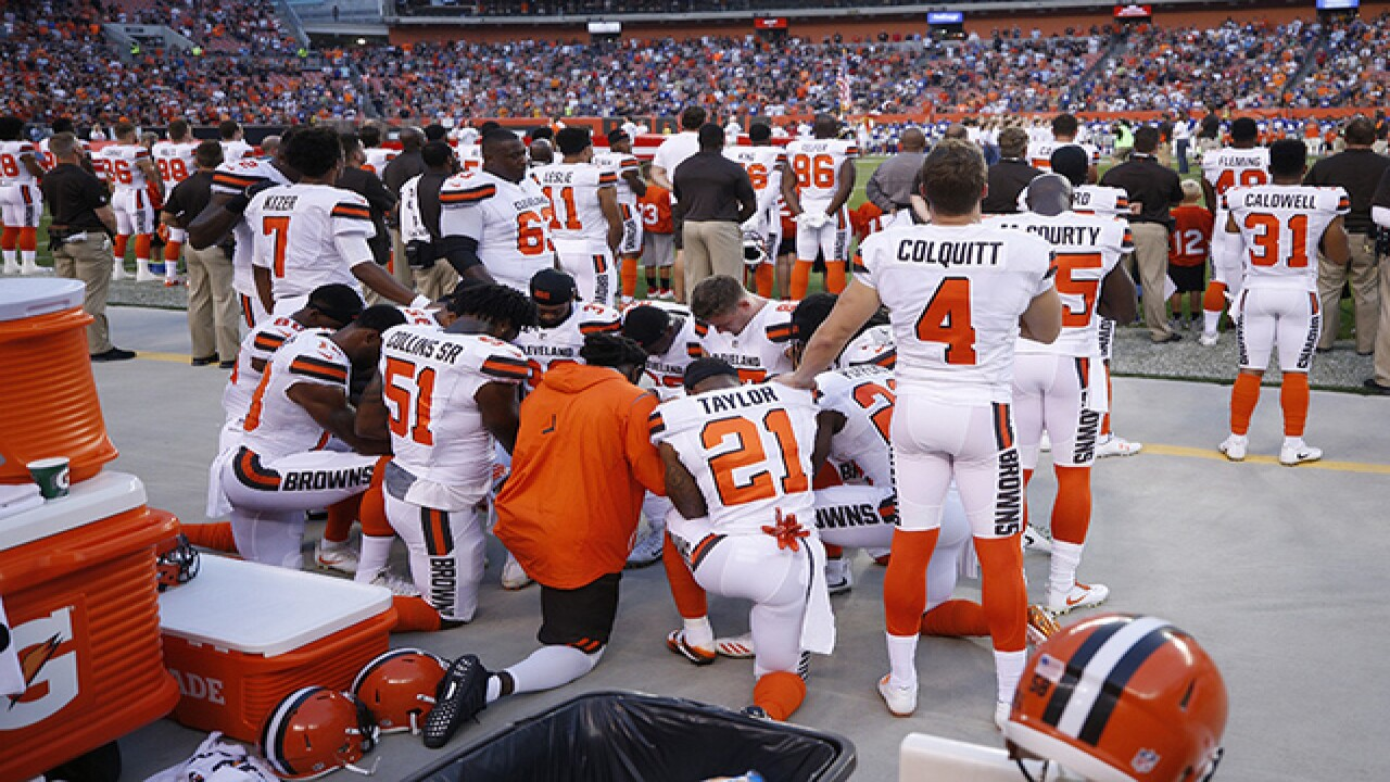 Angry fans take to Cleveland Browns Facebook page over national anthem protest