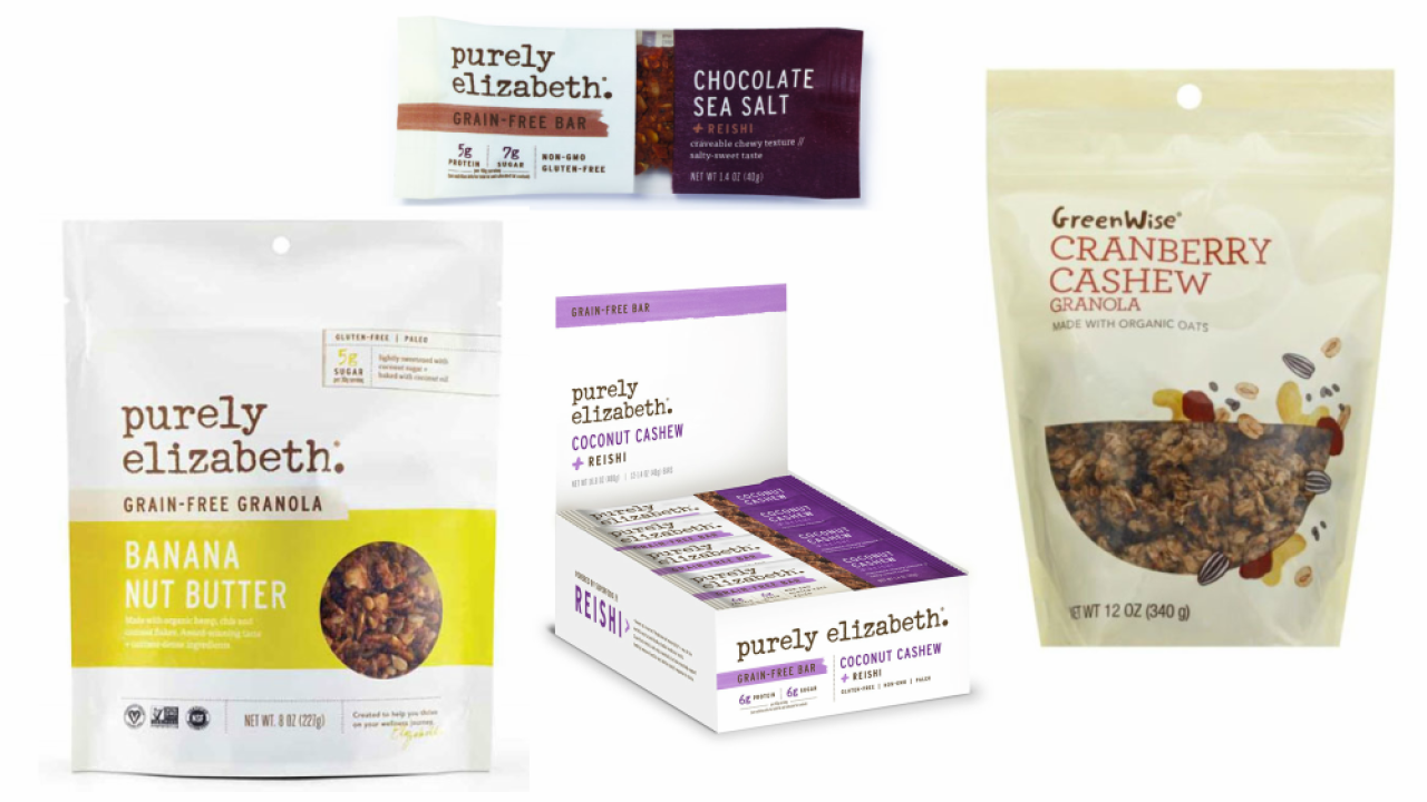 Purely Elizabeth granola products recalled because they may contain plastic, rocks or glass
