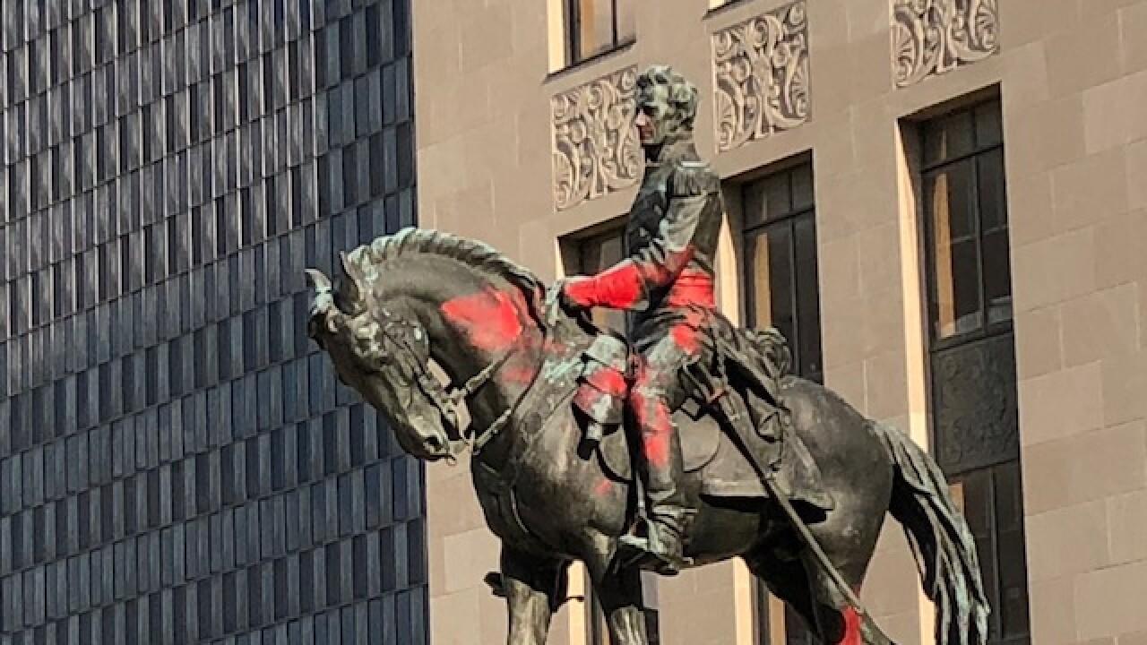 Vandalism of Andrew Jackson statue .jpeg