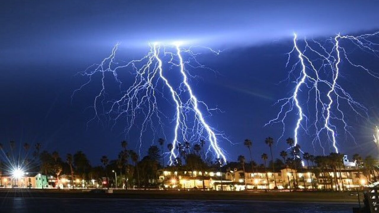 Watch: Southern California sky lights up as lightning strikes 2,200 times in 5 hours