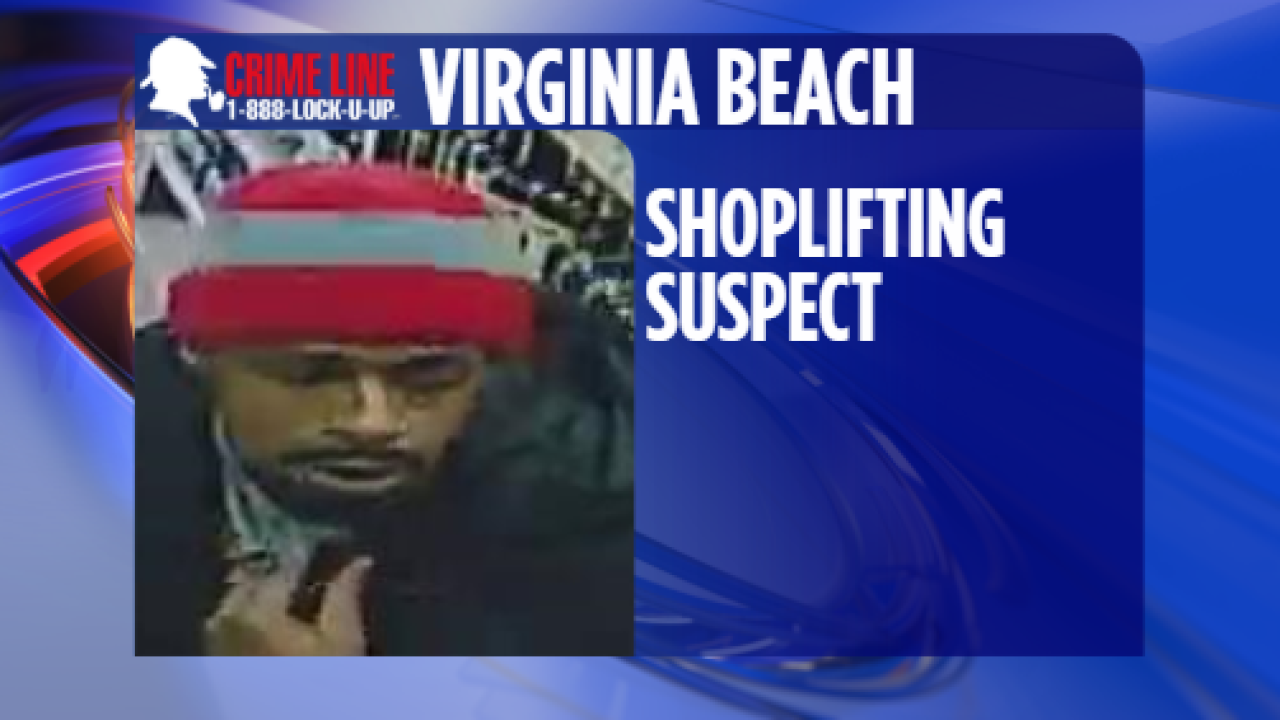 Virginia Beach Police trying to identify shoplifting suspect