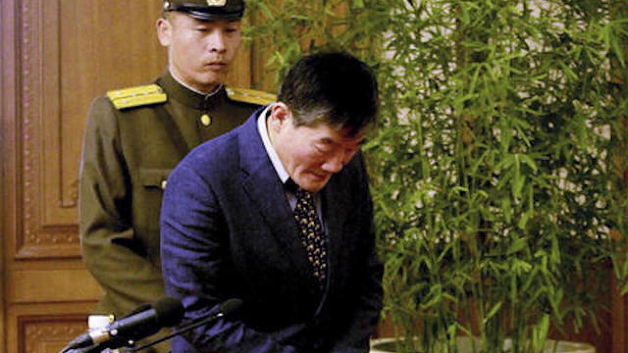 American detained in North Korea apologizes