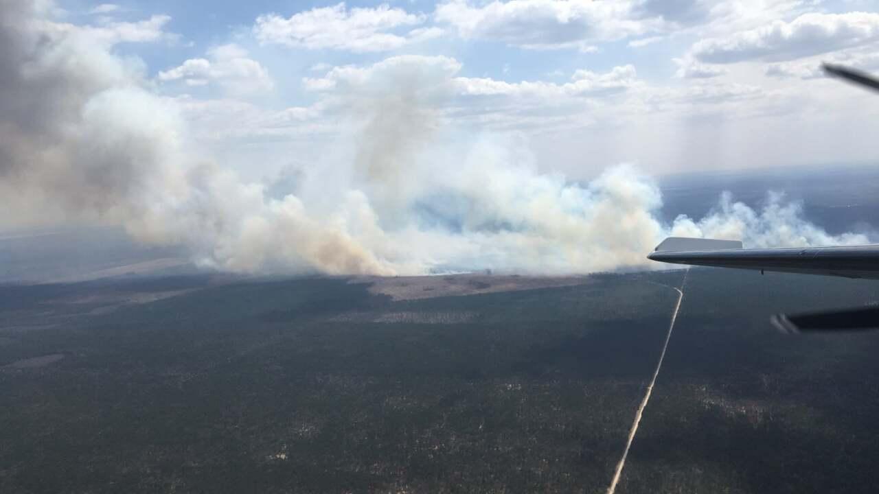 Iosco County fire, aerial
