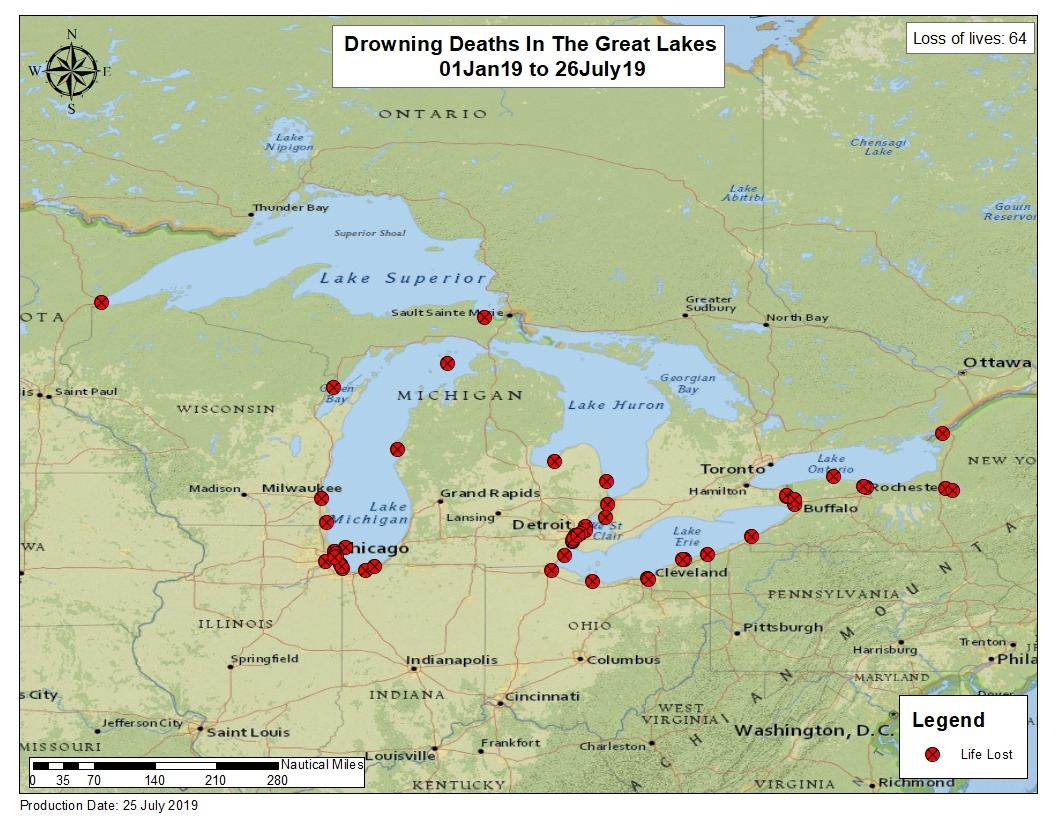 Coast Guard announces 64 Great Lakes drownings so far in ...